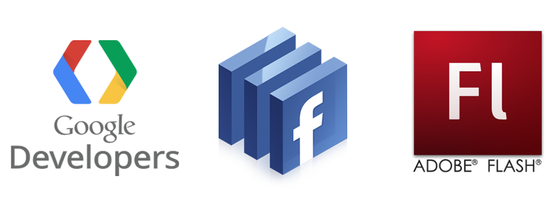 Google, Facebook, ActionScript 3 development