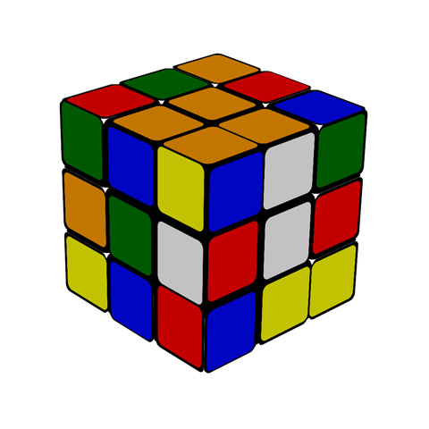 CSS3 example: Rubic Cube game